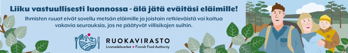 Ruokavirasto - Liiku vastuullisesti